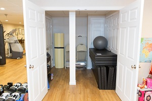 TBF finished basement with home gym in Portland