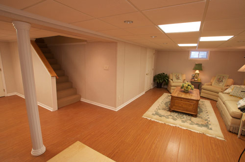 remodeled basement photos from projects throughout maine including
